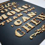 Artista Anna Garforth cria tipografia comestível