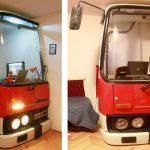 Uma 'pequena' cabine de ônibus e uma gigantesca criatividade