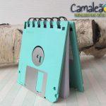 Mini-caderno Retrô Floppy Disk para os amantes da informática