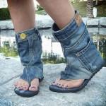Sandálias Upcycled: Reaproveitando Jeans e outros tecidos!