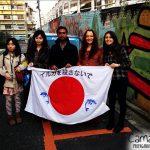 Relato do protesto em Tóquio contra a matança de Golfinhos