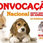 Convocação Nacional para ativistas de direitos animais no Instituto Royal – Sábado 19/10