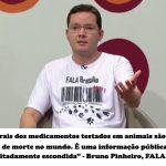 Ativista participa de debate sobre testes em animais na TV Brasil