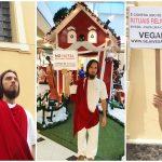 Jesus realiza ato para lembrar as pessoas sobre Veganismo