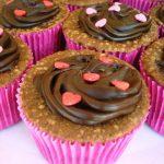 Cupcakes vegetarianos de chocolate
