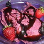Sorvete Vegetariano de Frutas Vermelhas