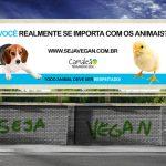 Divulgue e faça uma doação para a campanha de outdoor vegana