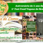 Última oportunidade para concorrer ao sorteio de livros veganos!
