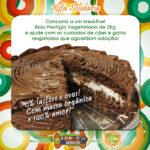 ONG de proteção animal faz rifa de bolo vegetariano