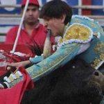 Toureiro perde dente após chifrada de touro no México