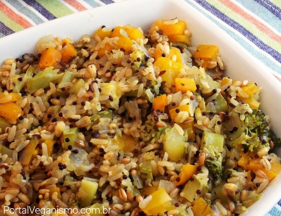 Arroz carreteiro de legumes (vegetariano)